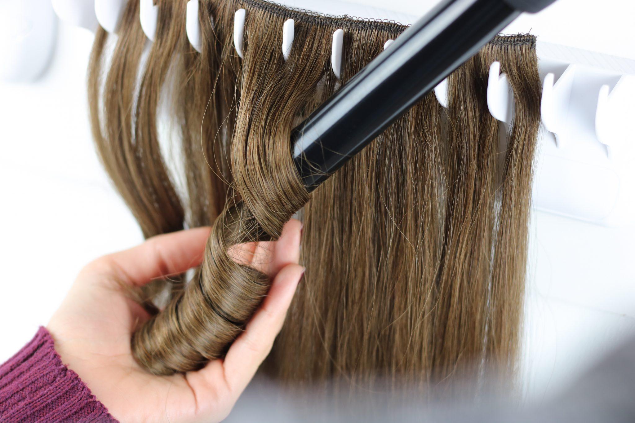 Het krullen en stijlen van je 100% human hair extensions