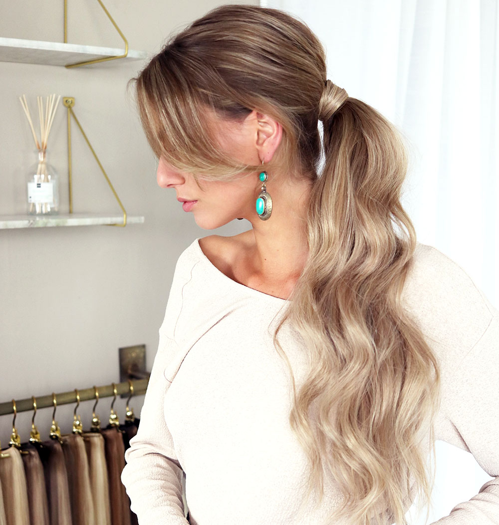 clip in hair ponytail